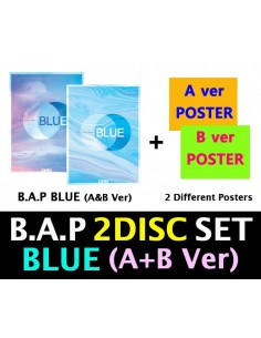 [SET] BAP 7th Single Album - BLUE(A+B) 2CDs + 2 Different Posters