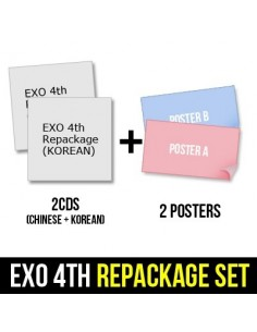 [SET] EXO 4th Album REPACKAGE - THE WR (THE POWER OF MUSIC) (KOREAN + CHINESE) 2CDs + 2 POSTERs