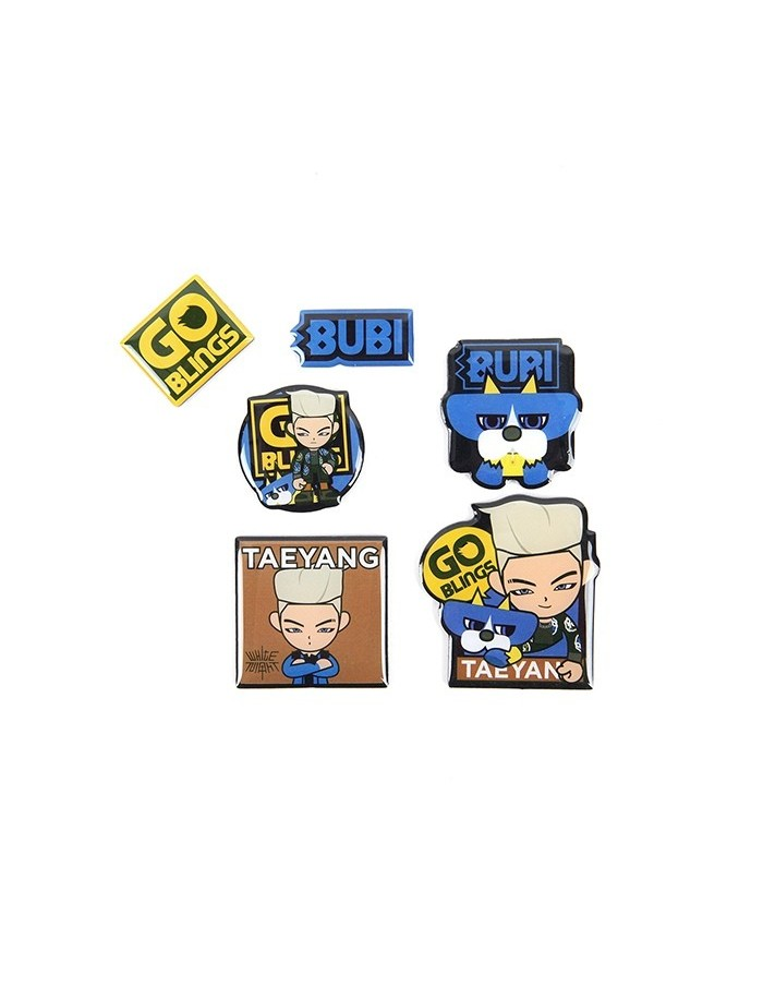 TAEYANG GO BLINGS MAGNET SET - 2017 WORLD TOUR WHITE NIGHT in SEOUL