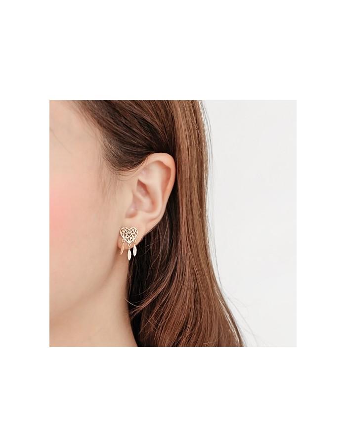 [AS326] Heart Dreamcatcher earring