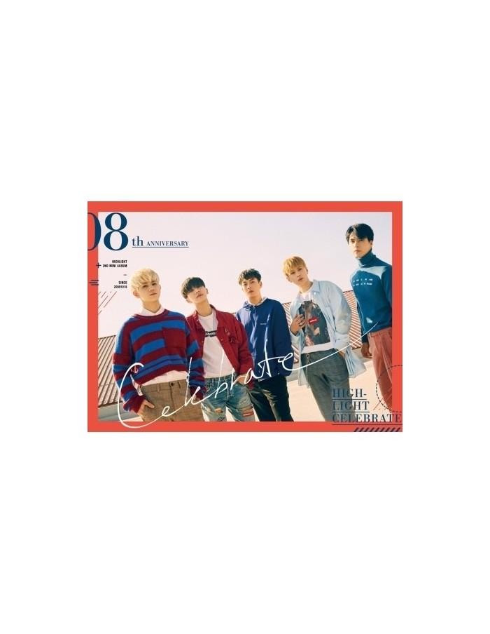 HIGHLIGHT 2nd Mini Album - CELEBRATE (B VER.) CD + Poster
