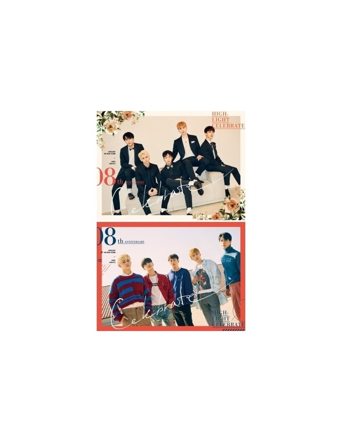[SET] HIGHLIGHT 2nd Mini Album - CELEBRATE (A +B VER.) 2CDs + 2 Different Posters