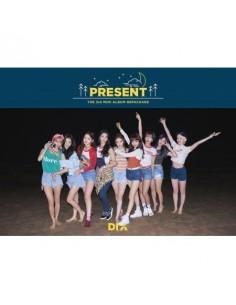 DIA 3rd Mini Album Repackage - PRESENT( Good Night Ver) CD + Poster