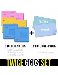 [SET] Twice 1st Album - Twicetagram 6 Different CDs + 2 Different Posters [SET]