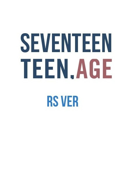 SEVENTEEN 2nd Album - TEEN,AGE (Ver.RS) CD + Poster