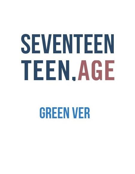 SEVENTEEN 2nd Album - TEEN,AGE (Ver.GREEN) CD + Poster