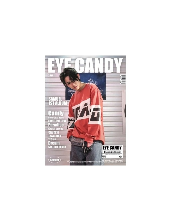 SAMUEL 1st Album - EYE CANDY CD + Poster