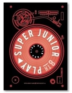 Super Junior 8th Album - PLAY CD + Poster  [Black Suit Ver.]