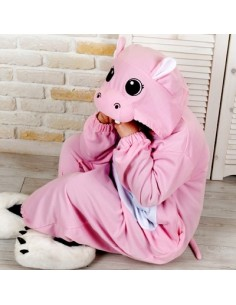 SHINEE Animal Pajamas - PINK HIPPO