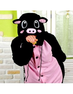 SHINEE Animal Pajamas - BLACK PIG