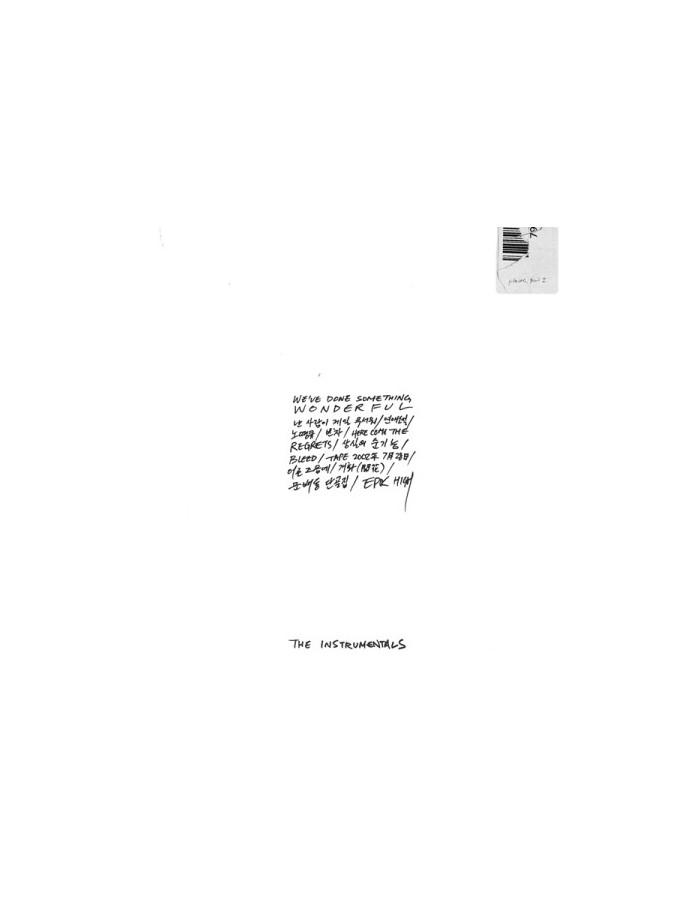Epik High 9th Album - [WE'VE DONE SOMETHING WONDERFUL] THE INSTRUMENTALS CD