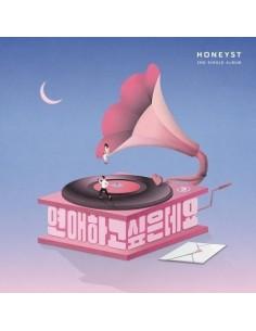 HONEYST 2nd Single Album - 연애하고싶은데요 CD + Poster