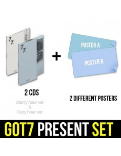 [SET] GOT7 - 7 FOR 7 PRESENT EDITION 2CDs + 2 Different POSTERS