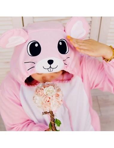 SHINEE Animal Pajamas - PINK MOUSE