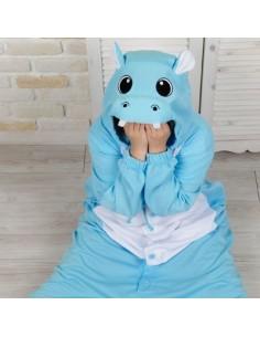 SHINEE Animal Pajamas - BLUE HIPPO