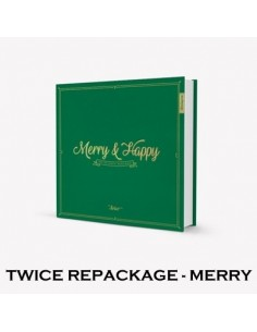 Twice 1st Album REPACKAGE - [MERRY&HAPPY] (MERRY Ver.) CD + Poster