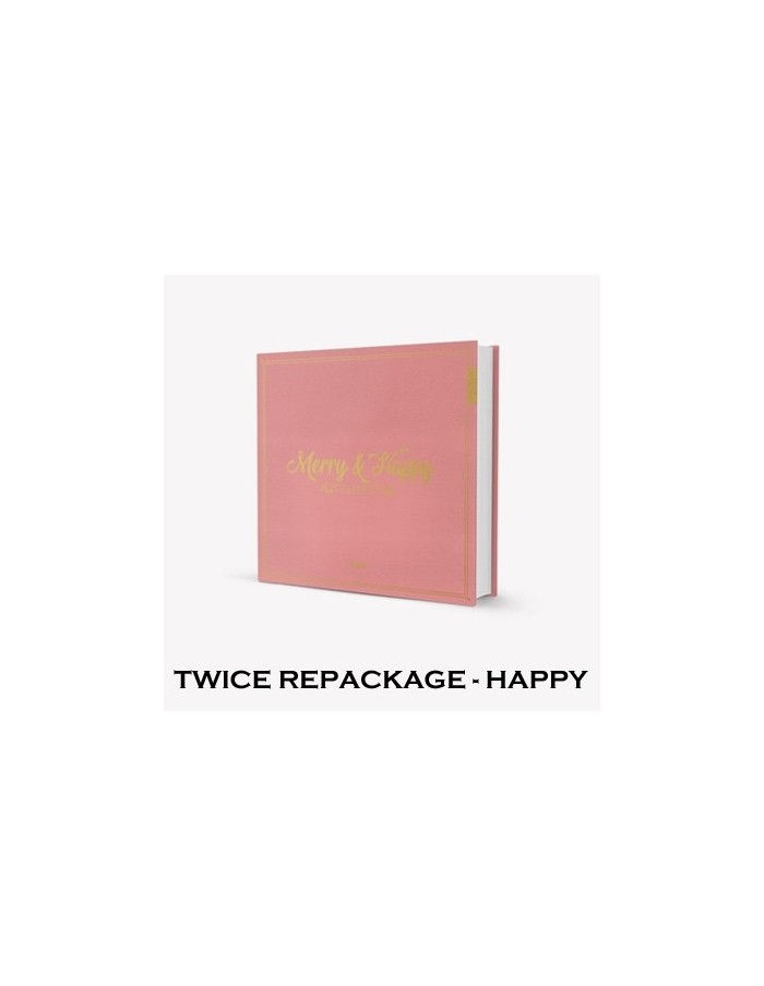 Twice 1st Album REPACKAGE - [MERRY&HAPPY] (HAPPY Ver.) CD + Poster