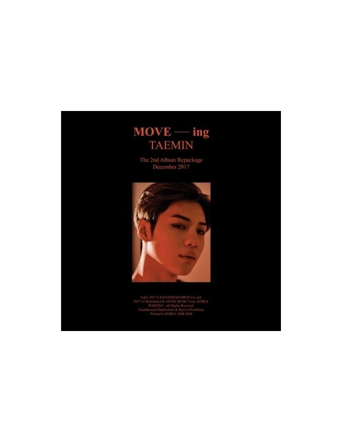 SHINEE TAEMIN 2nd Album Repackage - MOVE -ing CD + Poster