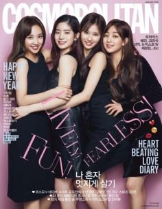 Magazine COSMOPOLITAN 2018-1 TWICE, CRUSH, SEVENTEEN, JBJ, San E, NU'EST W