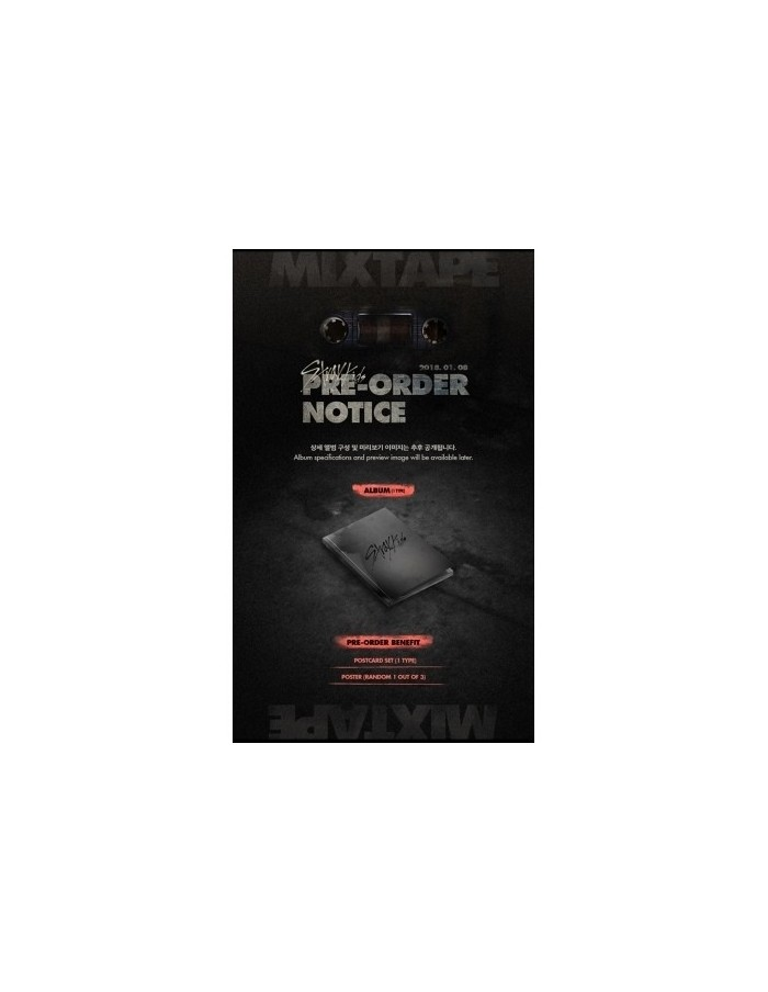 STRAY KIDS Debut Album - Mixtape CD + Poster