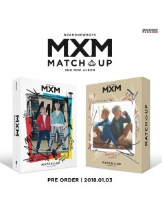 [SET] MXM (BRANDNEW BOYS) 2nd Mini Album - MATCH UP (M Ver.) + (X Ver.)