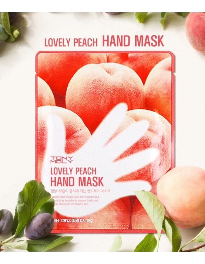 [TONYMOLY] Lovely Peach Hand Mask 16g