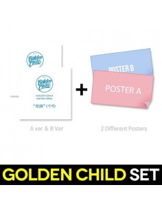 [SET] Golden Child 2nd Mini Album - Miracle 2CDS (A Ver + B Ver) + 2 Different Posters