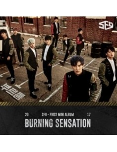 SF9 1st Mini Album - BURNING SENSATION CD + Poster