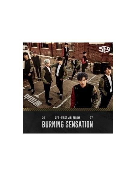 SF9 1st Mini Album - BURNING SENSATION CD + Poster