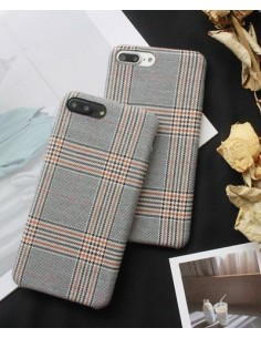 [IH195] i Phone Wool Check Case