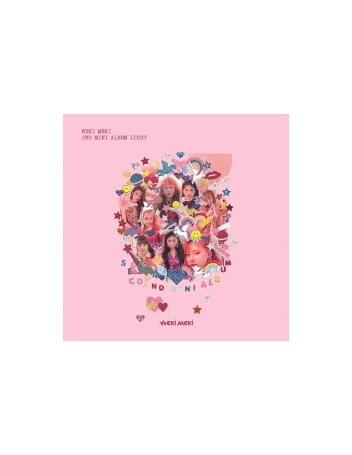 WEKI MEKI 2nd Mini Album - Lucky [Lucky Ver] CD + Poster