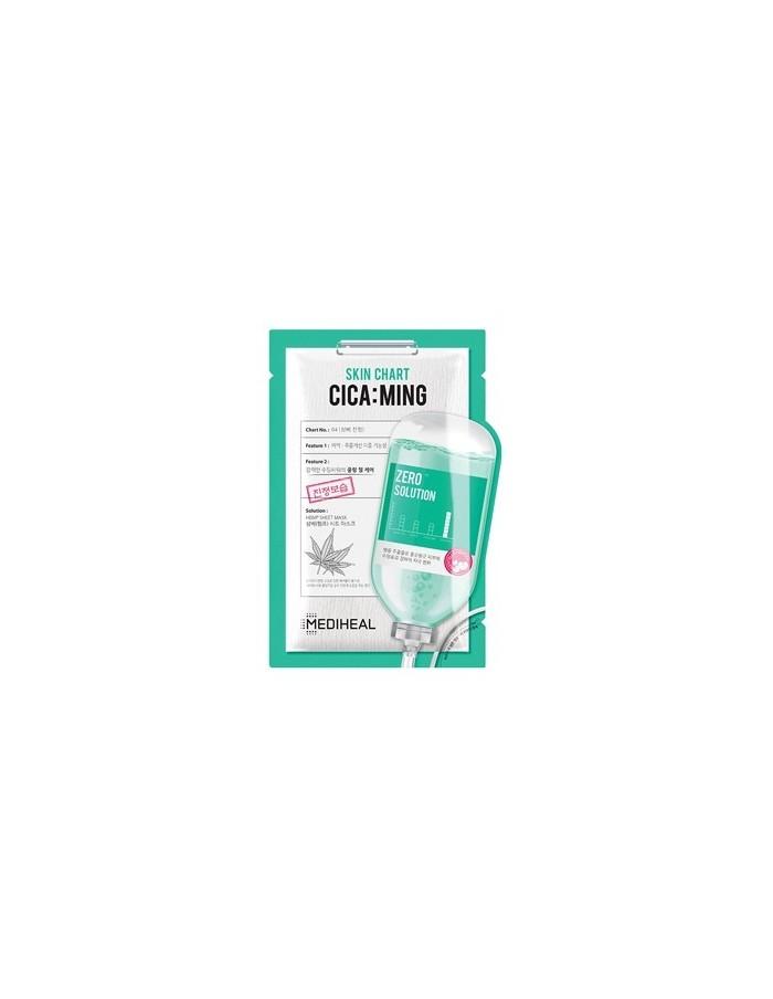 [MEDIHEAL] Zero Solution Skin Chart Cica : Ming Mask (10sheet)