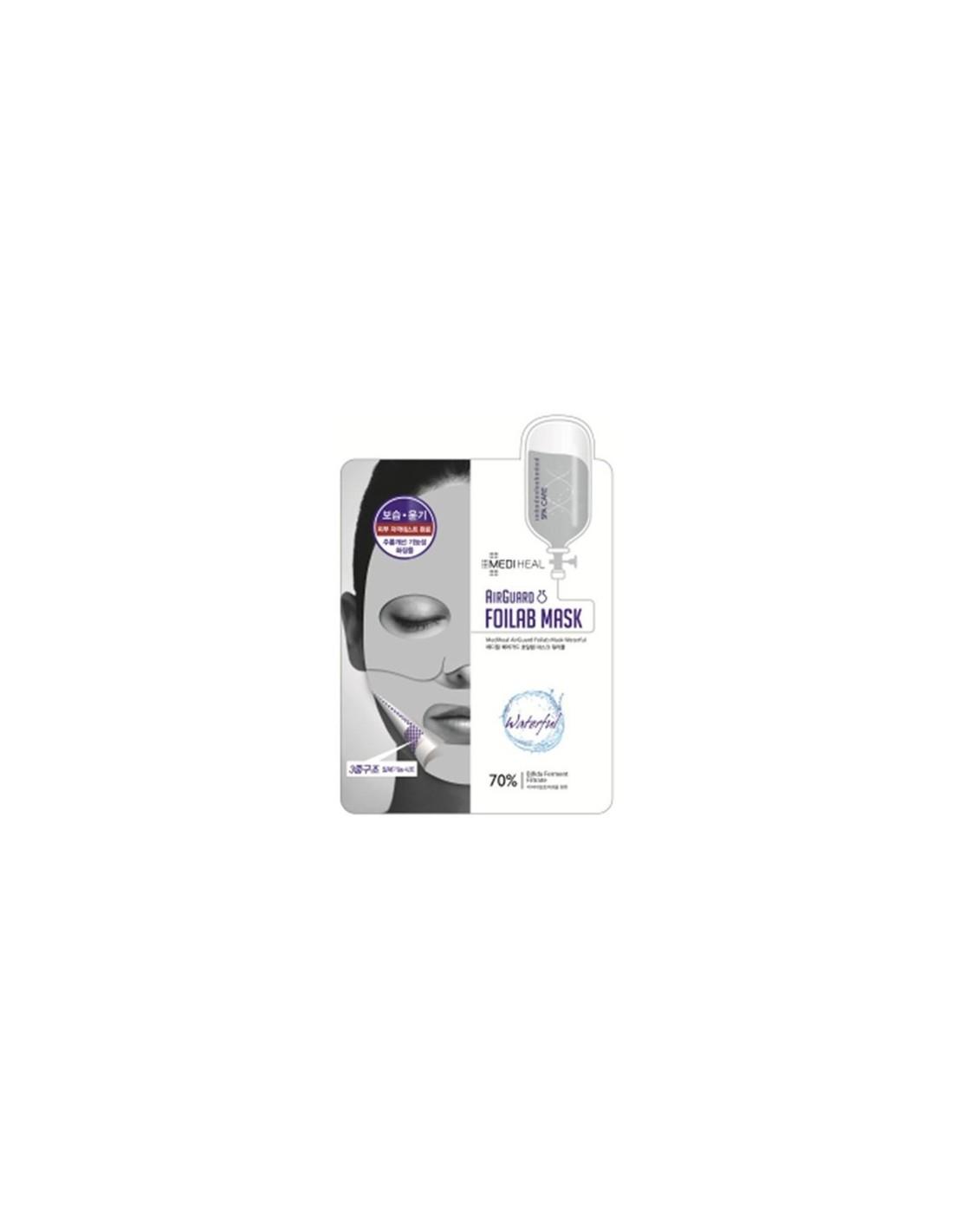 Medi Heal Airguard Foilab Mask Waterful 17ml Mediheal Collagen Impact Essential Pack