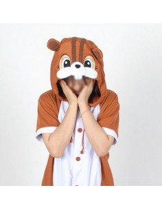 [PJA176] Animal Short Sleeve Pajamas - Squirrel
