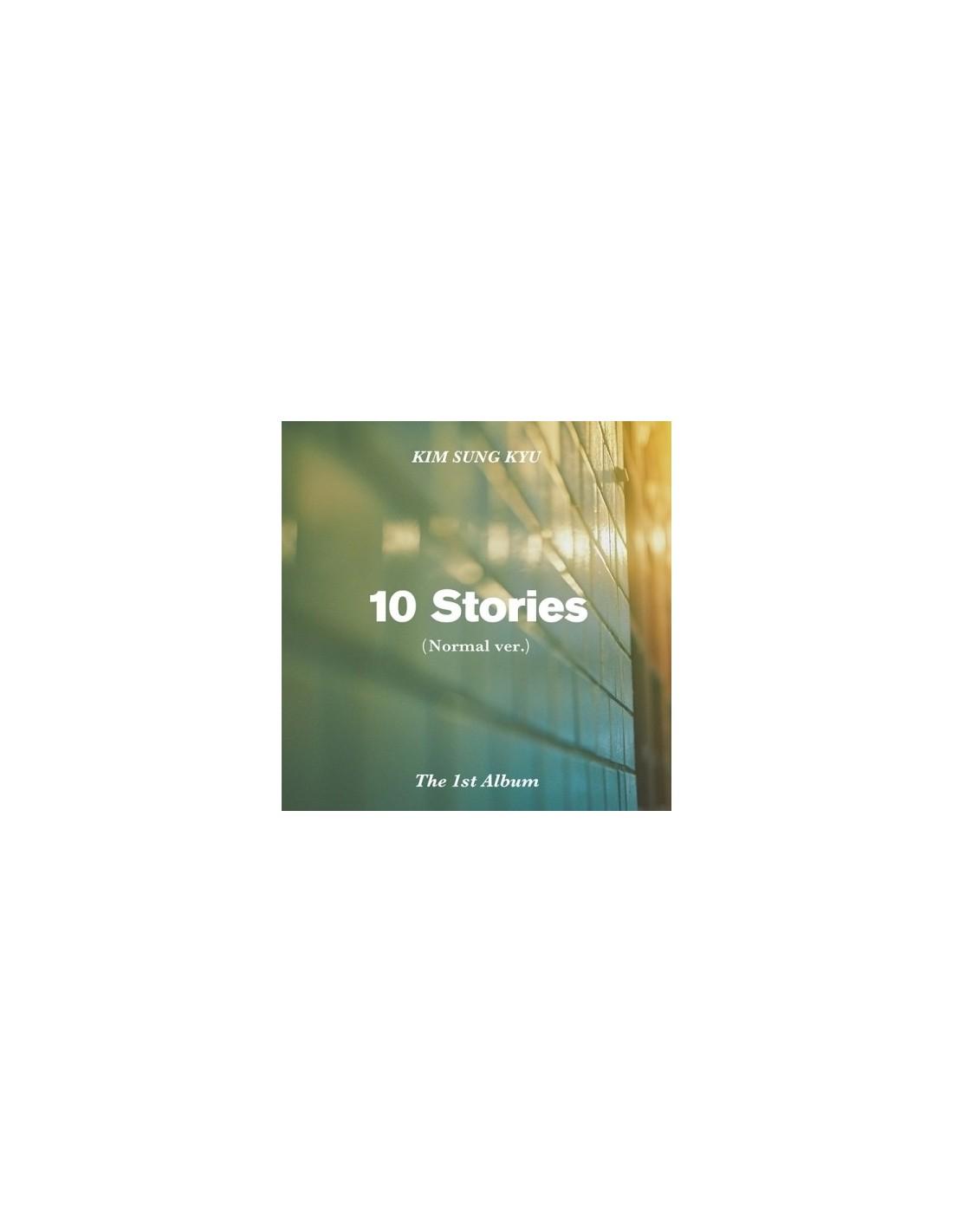 Kim Sung Kyu 1st Album 10 Stories Nomal Ver Cd Poster