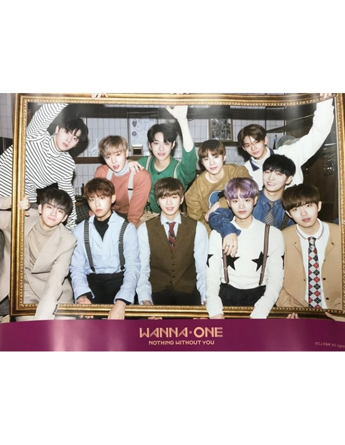 [Poster] WANNA ONE 1st Mini Album Prequel Repackage - TO BE ONE [NOTHING WITHOUT YOU] Poster