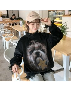 [L236] Puppy Velvet Poloneck MTM