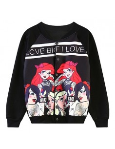[L242] Bad Girl Black Princess Baseball Jumper (Girl only)