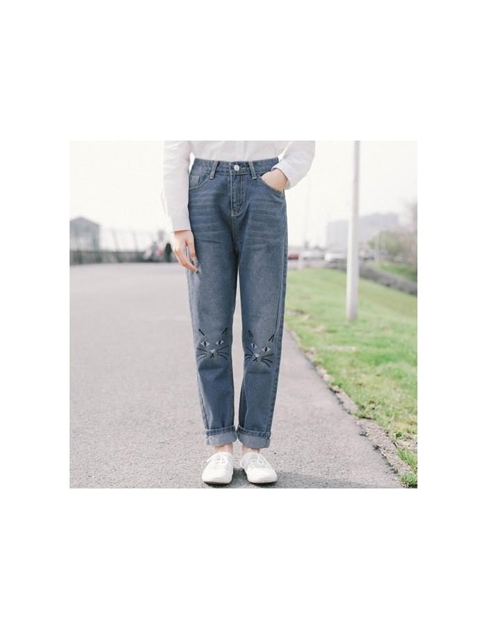 [LP23] Cats Denim Blue Jeans