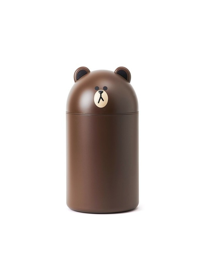 [LINE FRIENDS Goods] Brown Middle Size Wastebasket