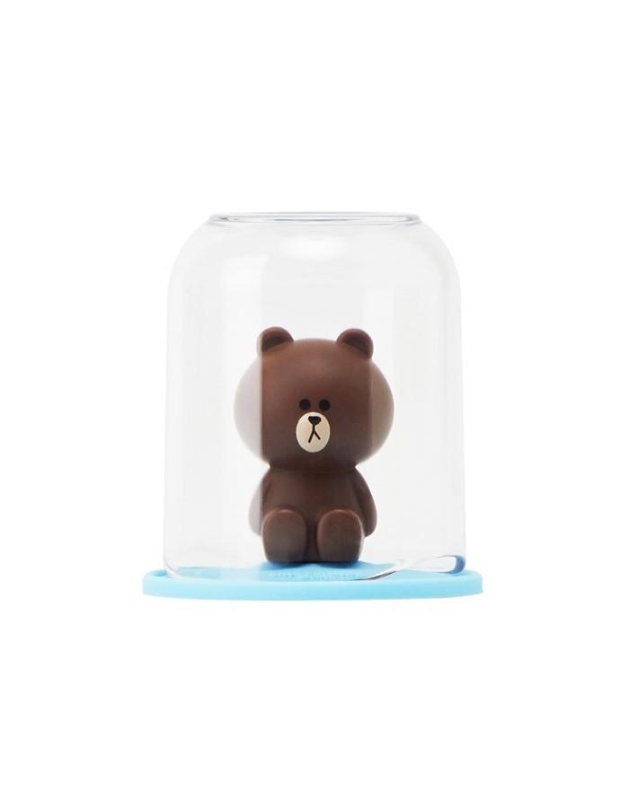 [LINE FRIENDS Goods] Brown Figure Holder & Cup Set