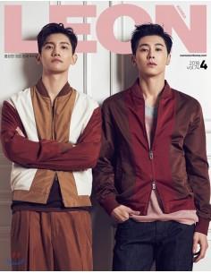 Magazine LEON KOREA 2018-4 TVXQ : Choegang Changmin,U-Know Yunho