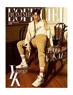 Magazine L'officiel Hommes YK Edition B 2018 S/S : EXO KAI