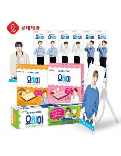 LOTTE YOHI X WANNA ONE (10Snacks + WANNA ONE Mini Benner)