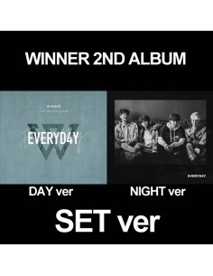 [SET] WINNER 2nd Album - EVERYD4Y(Day + Night ver) CD + Poster