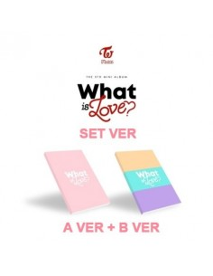 [SET] TWICE 5th Mini Album - What is Love? (A+B ver) CD + Poster