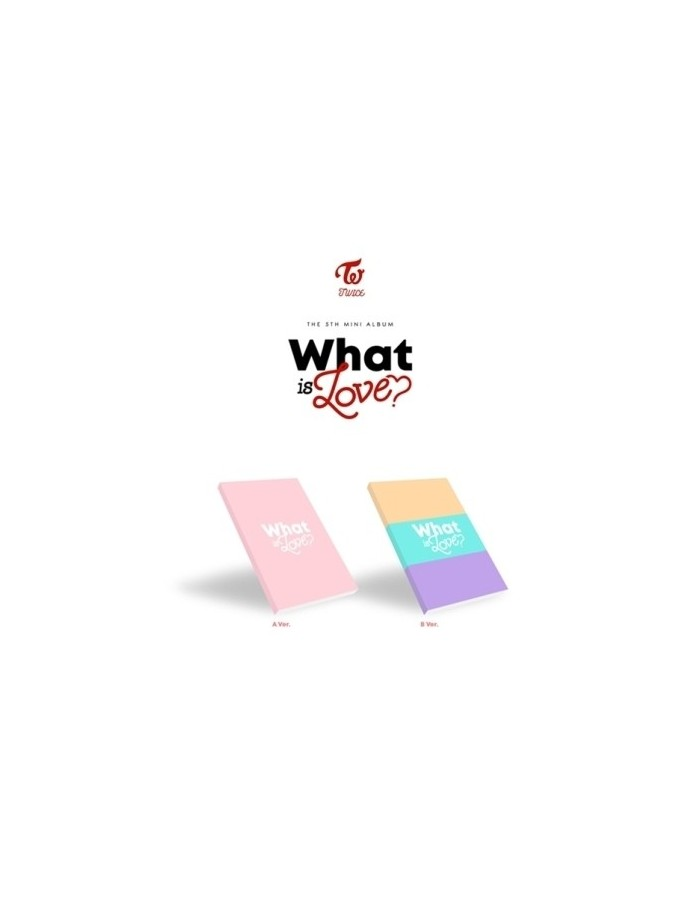 TWICE 5th Mini Album - What is Love? (Random ver) CD + Poster