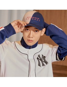 EXO X MLB New Crew - Half and Half Curve Control Cap Navy