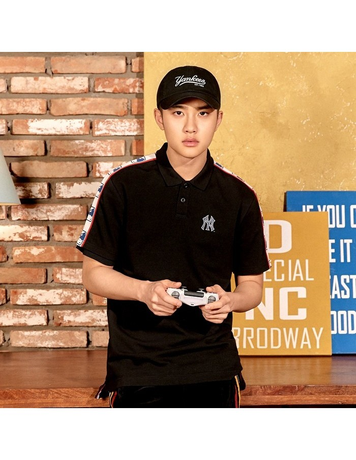 EXO X MLB New Crew - Basic Cover Fit Slider Curve Control Cap Black