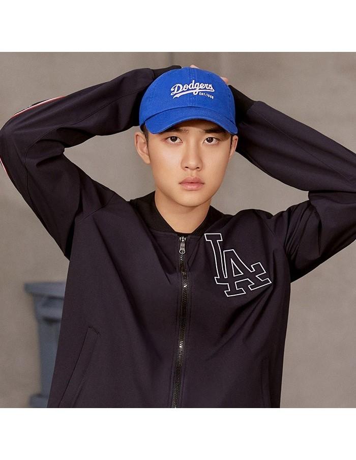 EXO X MLB New Crew - Basic Cover Fit Slider Curve Control Cap Blue
